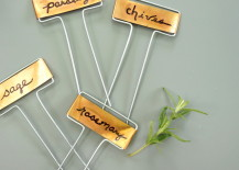 Pretty copper plant markers