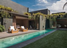 Private courtyard laced in greenery