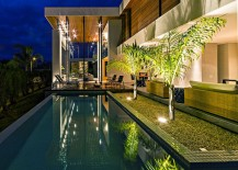 Private pool area of the stunning Brazilian home