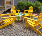 Recycled Plastic Adirondack Chairs in Yellow