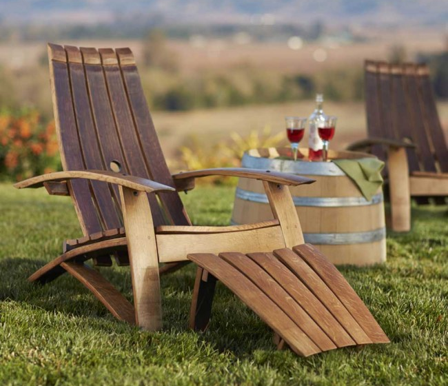 Delicieux View In Gallery Recycled Wine Barrell Chair