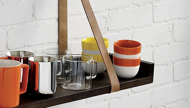 Red and yellow rimmed cups from CB2 Cups, Glasses and Flutes: Refreshing Drinkware Options for Spring