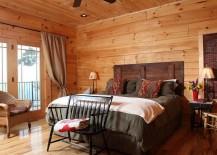 Rustic bedroom with barn wood headboard
