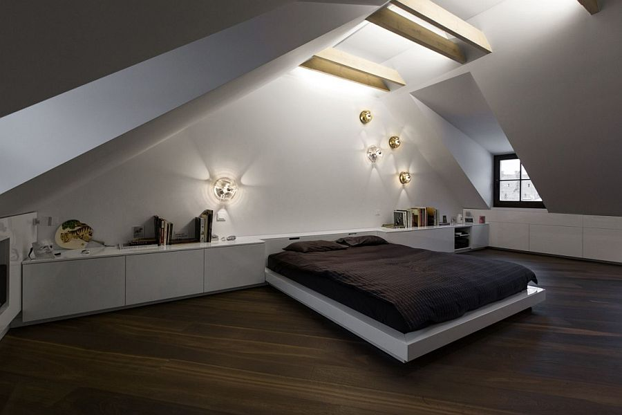 contemporary attic bedroom ideas displaying cool. View In Gallery Santed Ceiling Adds A Unique Appeal To The Stunning Attic Bedroom Contemporary Ideas Displaying Cool