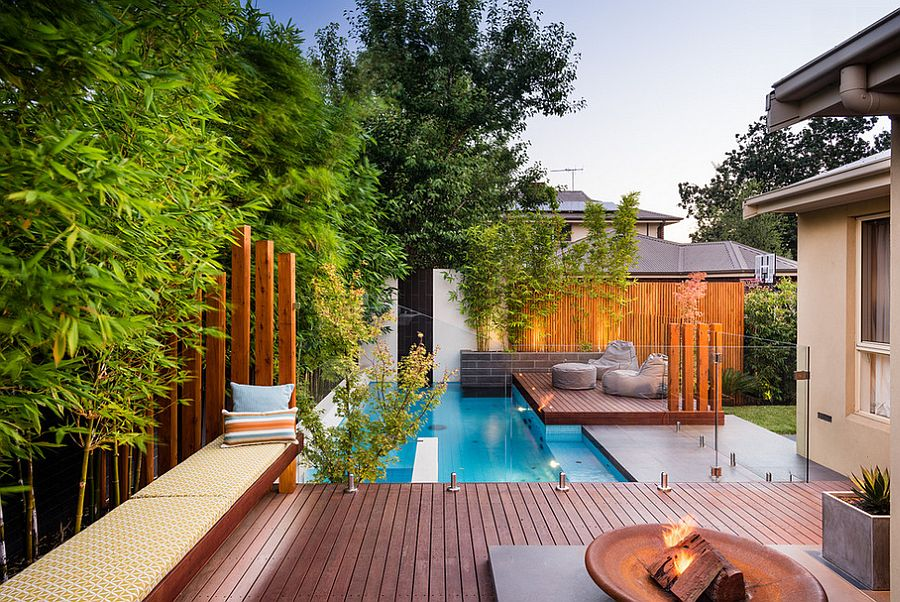 Exceptional View In Gallery Shape A Stunning Backyard With The Ideal Small Pool[Design:  Apex Landscapes]