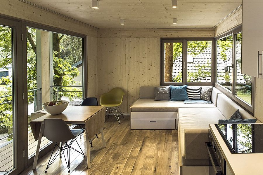 Simple living area of the treehouse