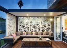 Small contemporary deck design with ample privacy