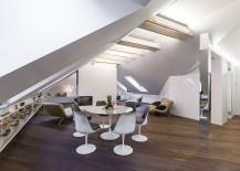 Small Attic Apartment in Vilnius Dazzles with Space-Saving Design