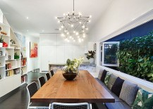 Smart kitchen and dining areas create a cool social zone