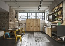 Smart materials and unique finishes give this urban kitchen an aged industrial look 217x155 Loft: Refined Kitchen Brings Industrial Richness to Urban Interiors