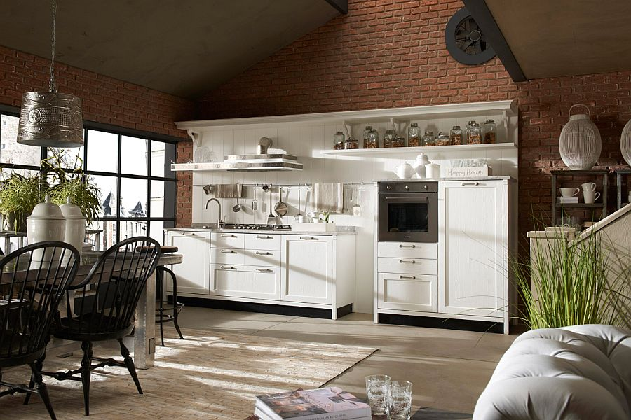 Smart modern kitchen creates a combination of comfort and elegance