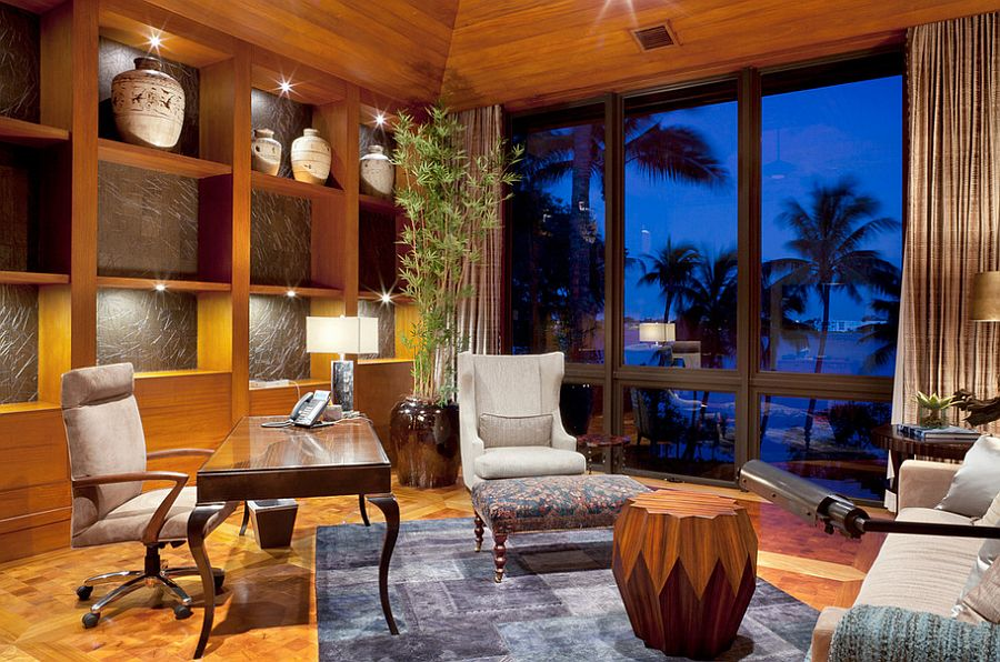 View In Gallery Smart, Modern Tropical Home Office Idea [Design: Affiniti  Architects]