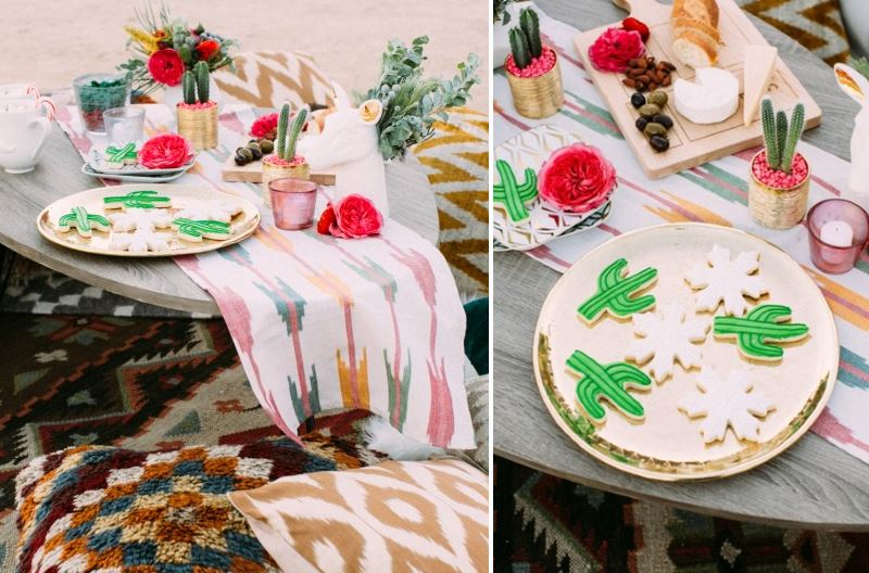 Southwestern tabletop vignette from Lulu & Georgia