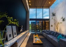 Spacious living area with a multitude of textures