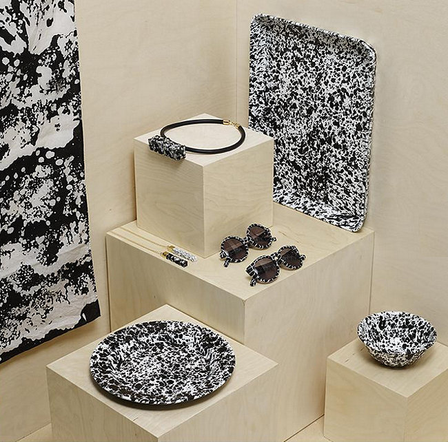Speckle, splatter and marble style from Darkroom London