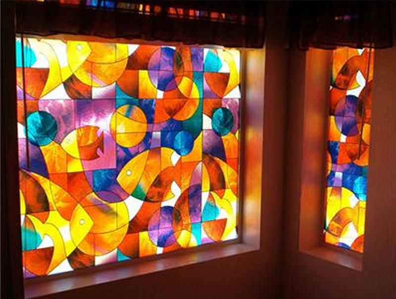 Stained glass window film decoist for Stained glass window film