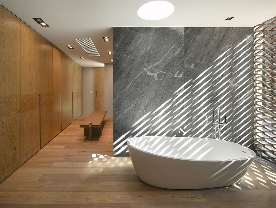 Standalone tub in the bathroom steals the show