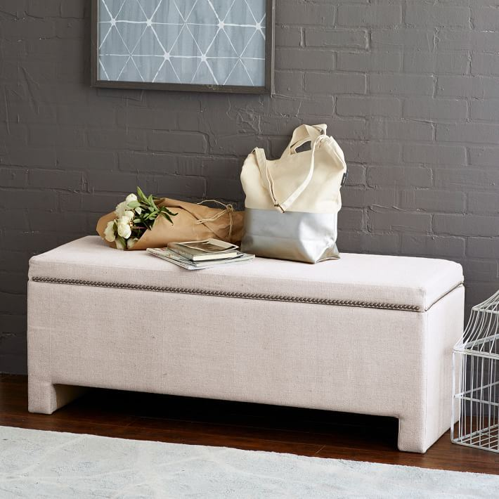 Storage bench from West Elm
