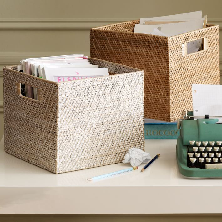 Storage bins from West Elm