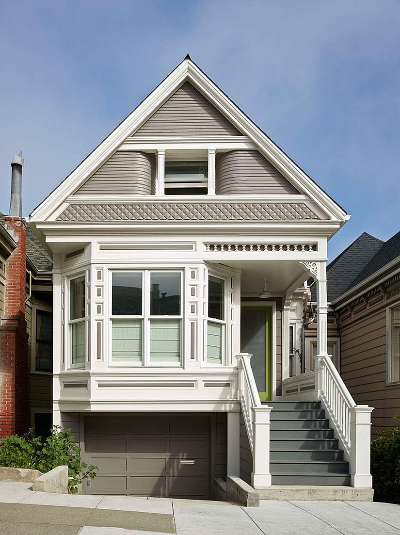 Street facade of the Victorian Noe Valley House in San Francisco
