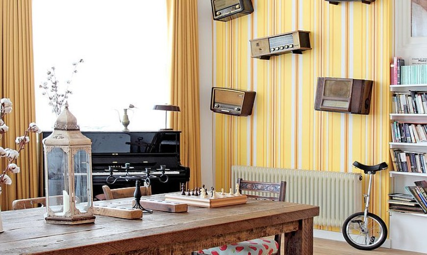 9 Ways to Decorate the Dining Room with Eye-Catching Wallpaper