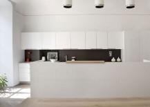 Stunning black and white kitchen makes a beuatiful statement - literally!