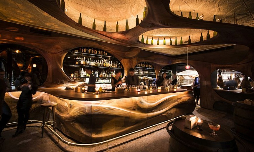 Bar Raval Toronto: Art Nouveau Meets Intoxicating Design in Sculpted Mahogany!