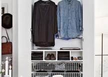 Stylish modern closet idea in white