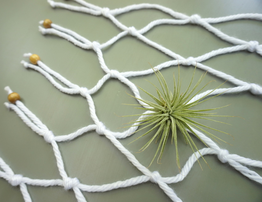 Table runner styling with air plants