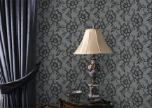 Tempaper Wallpaper Black Lace