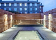 Timber screen brings privacy to the revamped couryard
