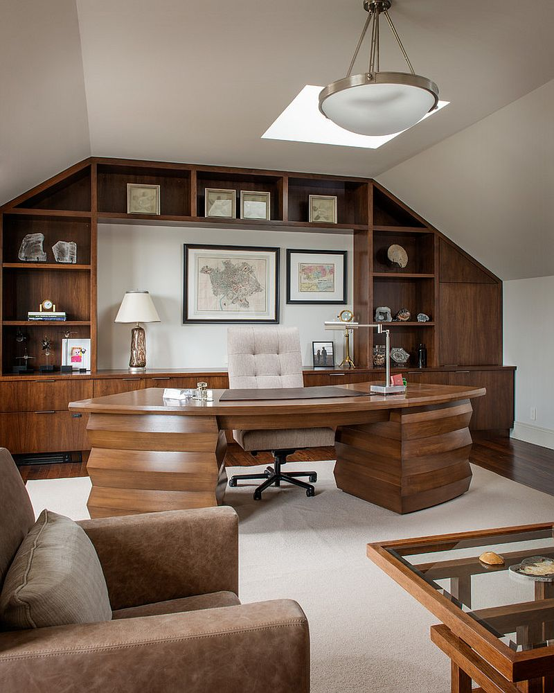 Houzify Home Design Ideas: 20 Trendy Ideas For A Home Office With Skylights