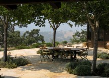 Tree-filled hilltop dining area