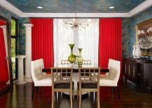 Trendy-dining-room-draped-in-wallpaper-217x155