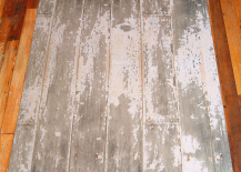 Trompe Loeil Floor Rug That Looks Like Distressed Wood