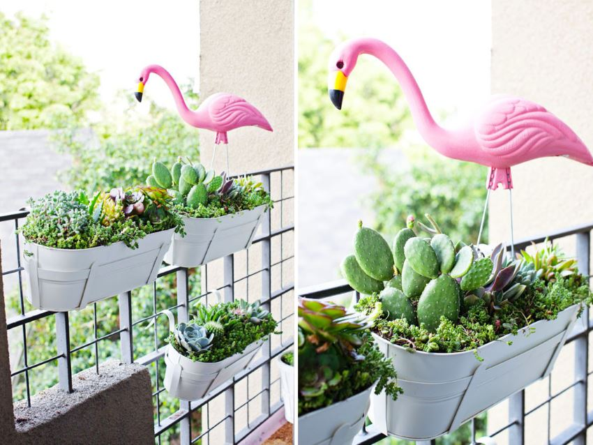 Tropical balcony garden from Melodrama  The Best DIY Projects for Spring Tropical balcony garden from Melodrama