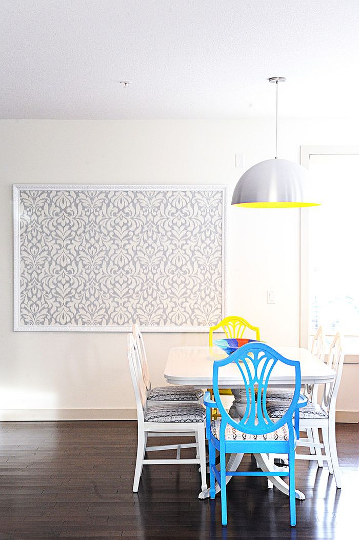 Turn the wallpaper into a work of art [Design: Collage Interiors]