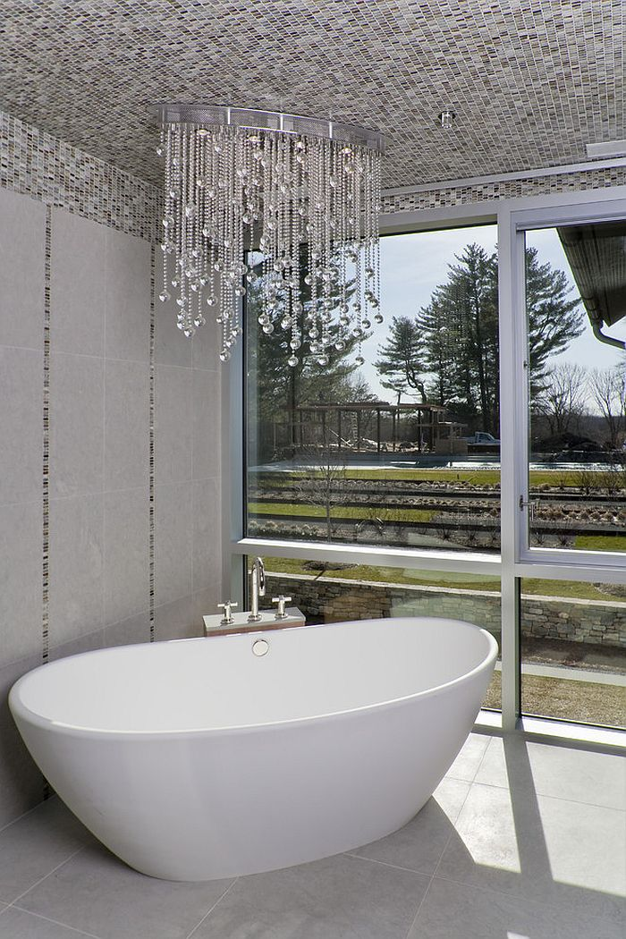 25 sparkling ways of adding a chandelier to your dream for Small chandeliers for bathrooms
