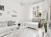 Unique floor plan combines the bedroom with the living