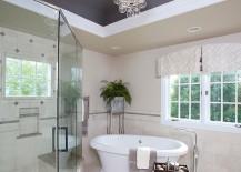 Unique-gray-ceiling-lets-the-chandelier-shine-through-217x155
