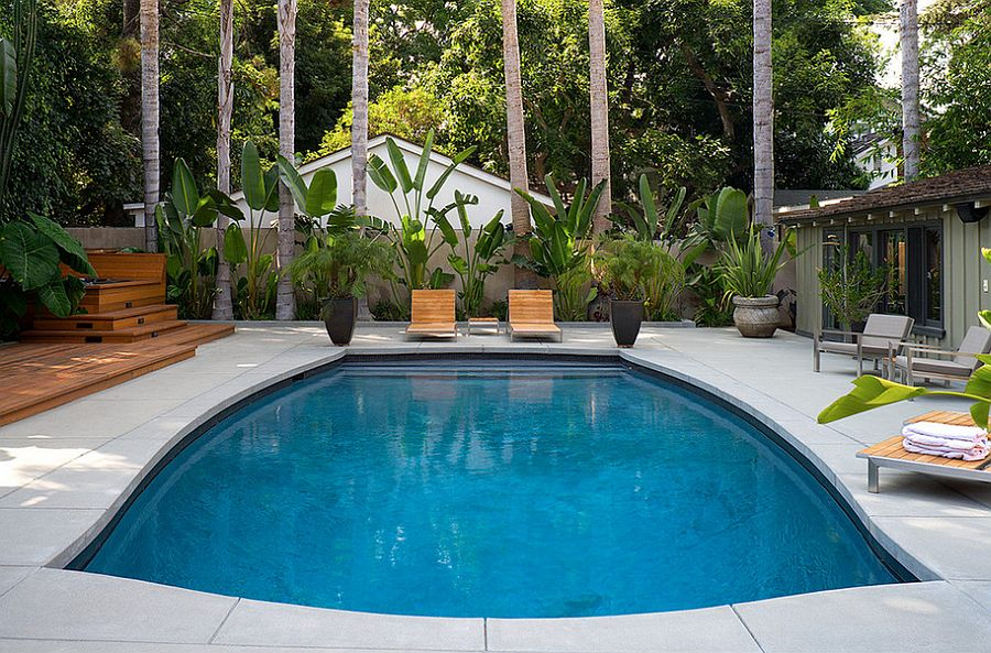 Outdoor design trend 23 fabulous concrete pool deck ideas for In ground pool deck ideas