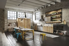 Urbane Loft kitchen from Snaidero mixes contemporary and industrial styles