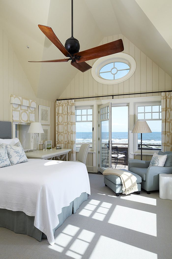 View outside the window adds to the style of the bedroom [Design: The Anderson Studio of Architecture & Design]