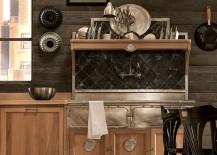 Vintage design elemnts make their way into the Panamera kitchen