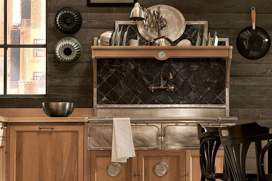 Vintage design elemnts make their way into the Panamera kitchen