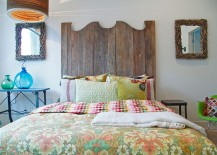 Vintage patterns combined with traditional style to shape a stylish bedroom