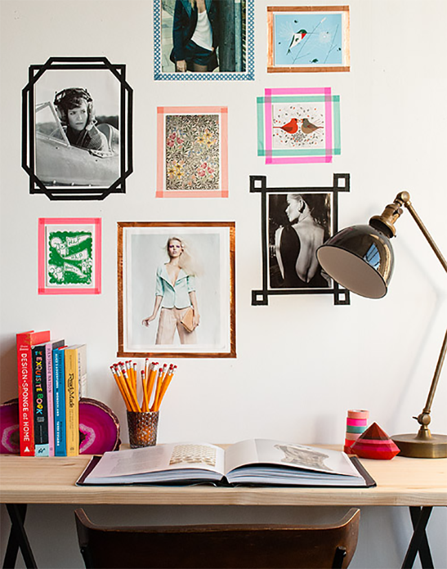 Washi Tape Temporary Picture Frames