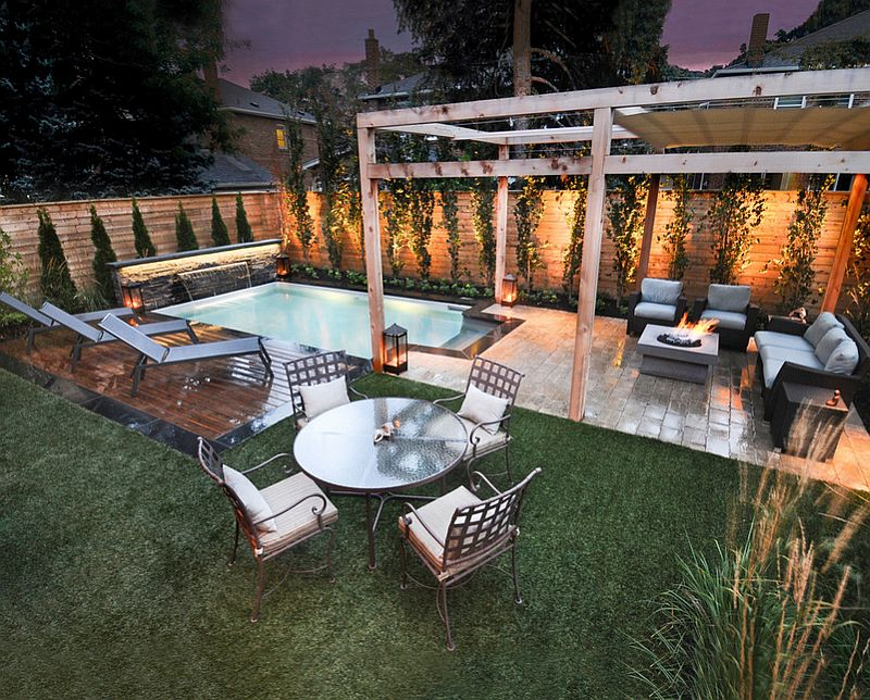Rectangular Pool Landscape Designs 23+ small pool ideas to turn backyards into relaxing retreats