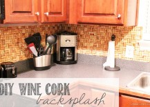 Wine Cork Backsplash 217x155 8 DIY Backsplash Ideas to Refresh Your Kitchen on a Budget