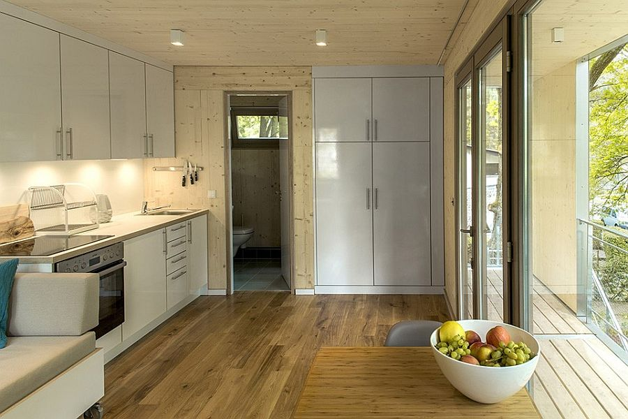 Wood offers perfect natural insualtion for the small home